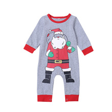 Hot Sale Baby Rompers Christmas Costume Newborn Clothes Long -sleeved Jumpsuits Children Infant  Clothing