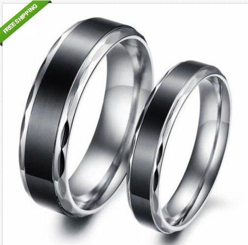 c579d4d7e073 Любовник обручальные кольца старинные пара черный титан сталь обещание кольцо  обручальное купить на AliExpress