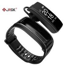 Monitoraggio della frequenza cardiaca pedometro smart watch degli uomini di Y3 braccialetto auricolare 2 in 1 promemoria telefono Bluetooth smart watch degli uomini di 4.1