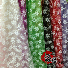 Print gauze organza decoration yarn costume screen window transparent