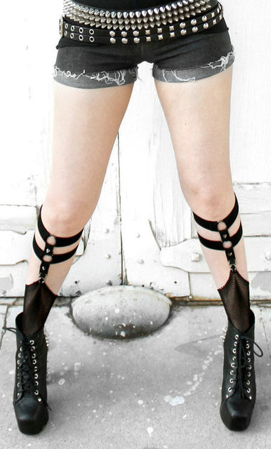goth suspender belt for stocking/lingerie