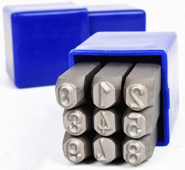 ФОТО 6*1CM DIY Alloy Steel Stamp Leather Carving Digital Seal Handmade Number Punch Stamp