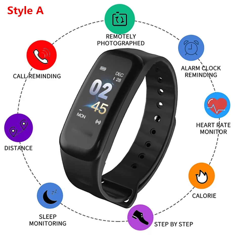 US $11 99 40% OFF|Electronic Wristwatch Wake up Gesture Smart Watch Men  Touch Screen Sport Watch for Android IOS Remote Camera Watch Digital  Male-in
