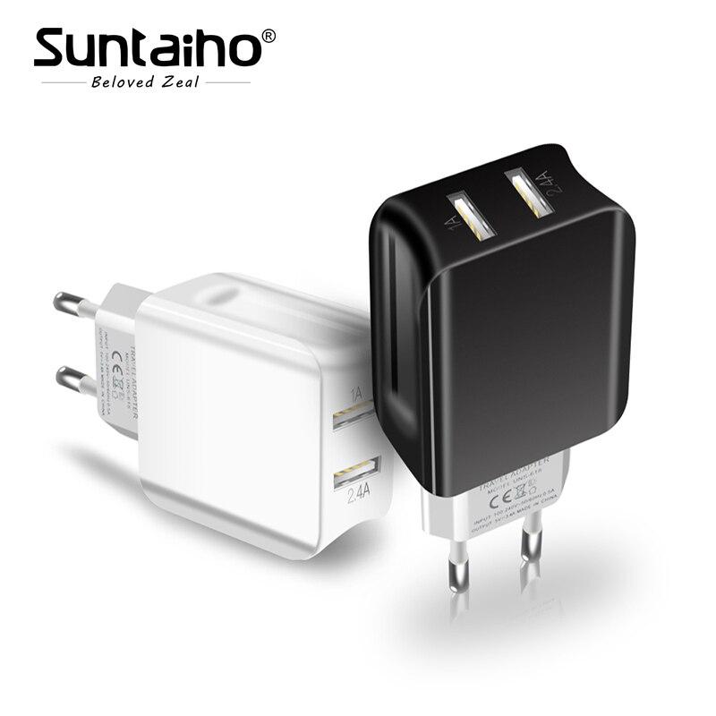 Suntaiho Double Port USB Chargeur de Voyage Mur Adaptateur Smart Mobile Téléphone Chargeur pour Iphone/Xiaomi/LG/Huawei UE Plug