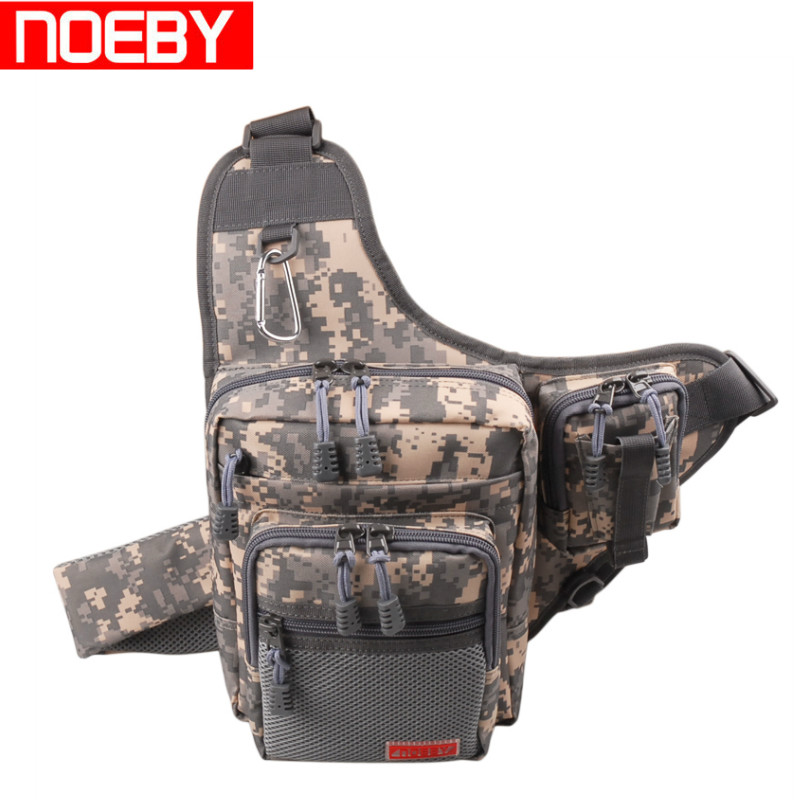 NOEBY Multifunction Fishing Tackle Bag 23*18*8cm 420D PVC Material Fishing Bags Lure Bag Large Fishing Backpack Bolso De Pesca