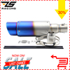 ZS Racing Universal Motorcycle Akrapovic Exhaust Scooter Exhaust Muffle For Z800 CBR T MAX ER6N GY6