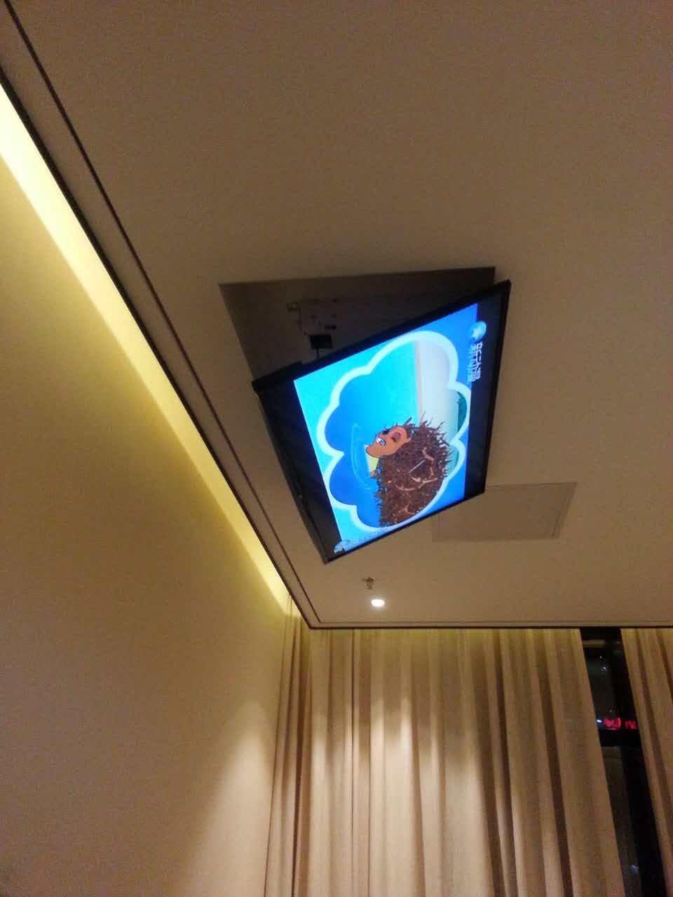 Eversion Motorized electric ceiling Led lcd tv lift mount hanger holder remote control function 110v-250v ,Fit for 32