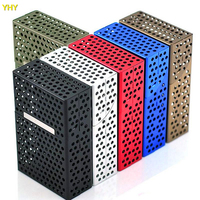 Free shipping New Pocket 20pcs hollowed Cigarette Aluminum Case Tobacco Case Box Holder Cigar Smoke Smoking Grinder