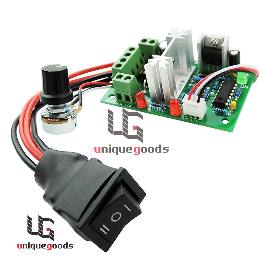 medium resolution of 12v 24v 30v dc motor speed controller reversible pwm control forward reverse switch