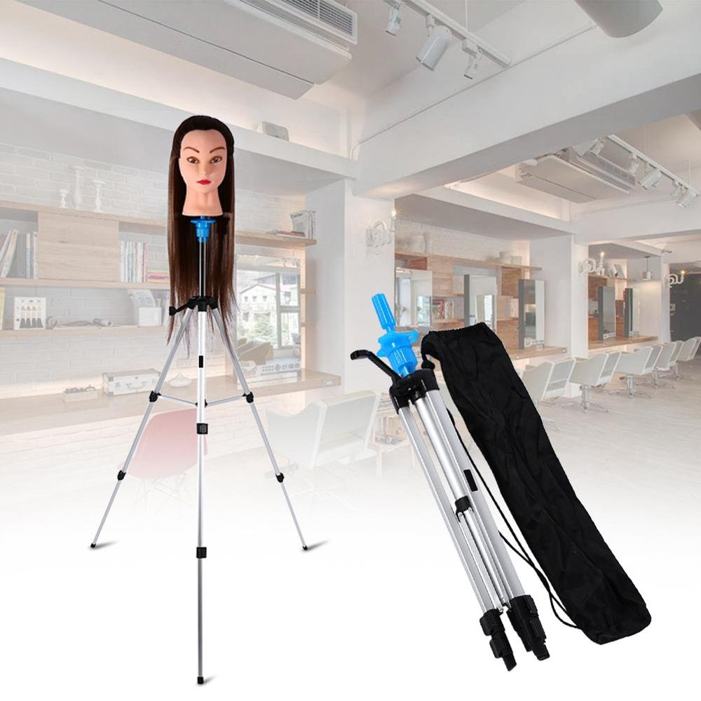 Adjustable Hair Wig Stand Tripod Stand Hair Wig Head Mannequin Head Training Holder Hairdressing Clamp Hair Holder Salon Tools