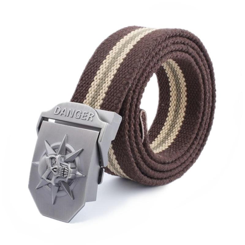 Creative Skull Belt Men Tactical smooth Equipment Hip Belt Canvas Mens Ceinture Wide Strap Buckle For Jean Cargo Pants Belts