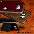Caso de couro genuíno dura para Samsung Galaxy S6 borda fique estilo cartão de crédito transporte tampa frete grátis