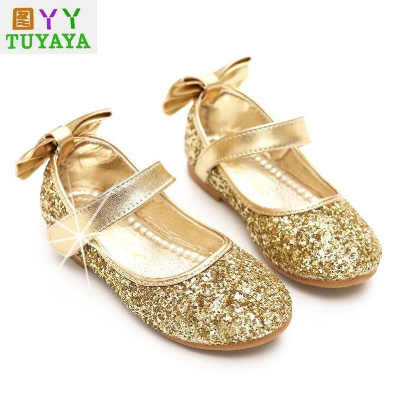 Новый бантом детские свадебные туфли Обувь для девочек принцесса Обувь  модные Обувь для девочек принцесса Сандалии для девочек детский пра. 8307e47e791