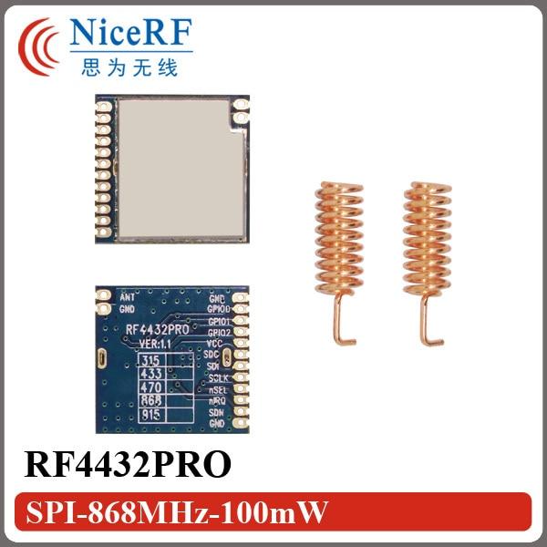 10pcs/lot  14km Long Distance Range| 100mW SPI Interface RF4432PRO 868MHz Wireless Module