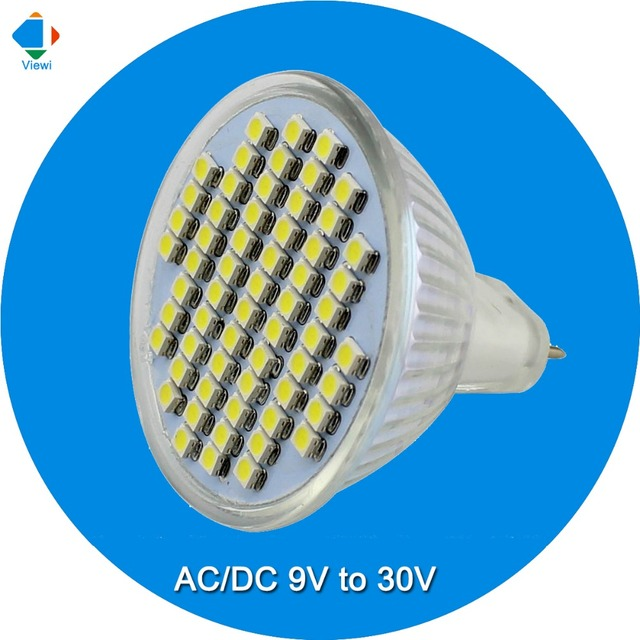 5x Led Spotlight Mr16 12 V Lâmpada De Luz 3 W Smd 3528 60 Leds 350