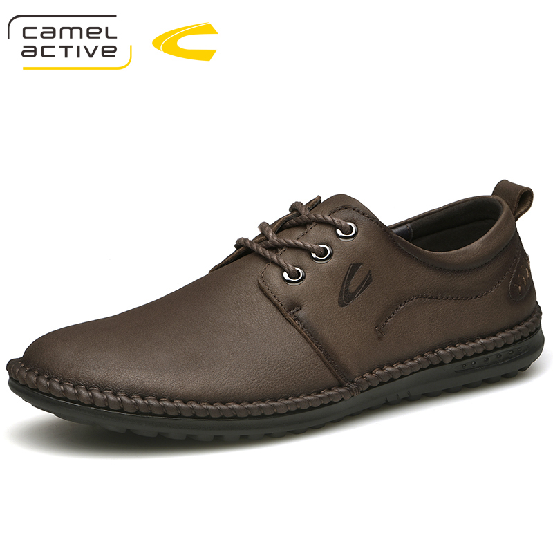 Camel Active New Full Genuine Leather Men Casual Shoes Hecrafted Fashion Comfortable 2018 Men Shoes