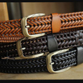 New Belt Man Fashion Mens Belts Luxury Genuine Leather Braided Cow Skin Straps Men Jeans Belt