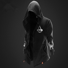 Zogaa Hoodies Men Brand Moletom толстовка Assassin Master Long Sleeve Assassins Creed Hood Sweatshirt Casual Pullover Sportswear Cotumes
