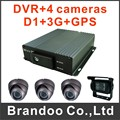 3G +GPS BUS DVR kit with 4pcs IR car cameras hot sale