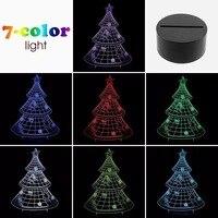 Newest Christmas tree 3D night light Christmas atmosphere lights room decoration