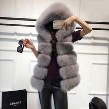 באיכות גבוהה פרווה אפוד מעיל יוקרה פו שועל חם נשים מעיל וסטים חורף אופנה פרוות נשים של מעילי מעיל