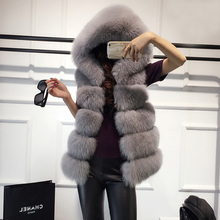 High quality Fur Vest coat Luxury Faux Fox Warm Women Coat V