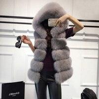 High quality Fur Vest coat Luxury Faux Fox Warm Women Coat Vests Winter Fashion furs Women's Coats Jacket
