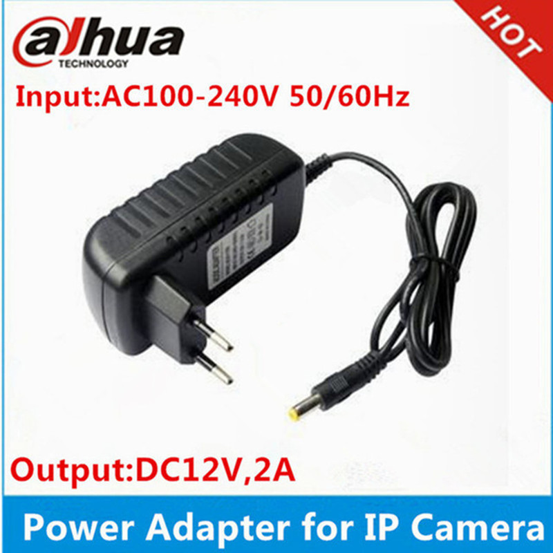 DC12V 2A Eu plug power Adapter supply dahua ip camera Hikvision ip camera ~  Free Shipping July 2019