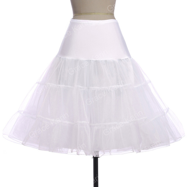 Petticoat Underskirt Grace Karin 7 Colors Women Retro Vintage Dress  Crinoline Petticoat Rockabilly Underskirt For Wedding
