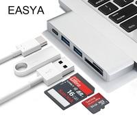 EASYA Wholesale USB Type C Hub Adapter Hub 3.0 USB Splitter Combo Card Reader with USB 3.0 Ports PD for MacBook Pro