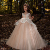 Crystal Pageant   Dresses   For   Girls   Appliques   Flower     Girl     Dress   Communion   Dresses   2018 Vestido Daminha Ball Gown Baby Party Gowns