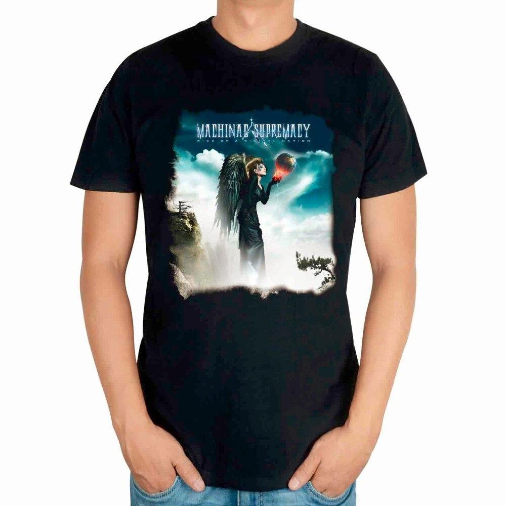 3 styles Summer Style machinae supremacy Rock band men women shirt punk heavy metal Gothic fitness birdman black wing