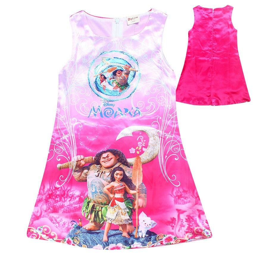 где купить  Elsa Dress Summer Style Dream Tropical Ocean Dress Moana Dresses Infant Baby Girls Clothing Costume Children Party Princes Dress  по лучшей цене