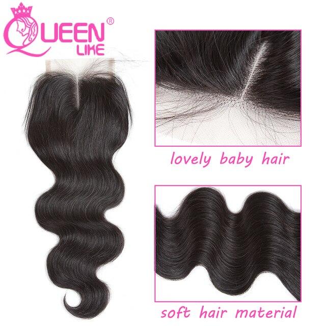 Reine comme Produits de Cheveux Brésiliens de Vague de Corps Avec Fermeture Non Remy cheveux Trame Weave 2 3 4 Faisceaux de Cheveux Humains Bundles Avec fermeture 3