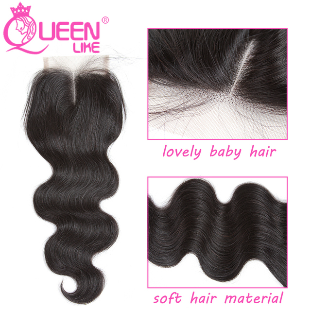 Queen like Hair Products Brazilian Body Wave With Closure Non Remy Hair Weft Weave 2 3 4 Bundles Human Hair Bundles With Closure