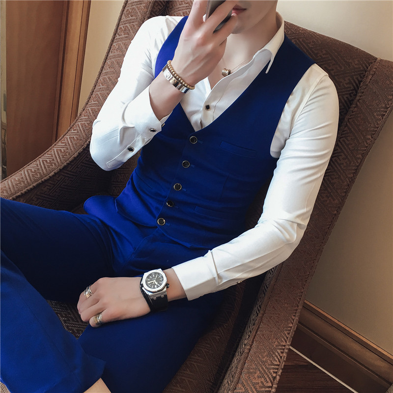 Chalecos Para Hombre Brand Designer Slim Fit Gilet Homme Casual V Neck Vest Men Sleeveless Chaleco Hombre Business Waistcoat 3XL