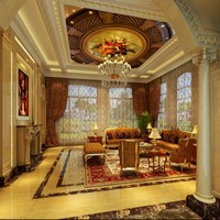 Free Shipping World Famous Painting Wallpaper European Restaurant Living Room Lobby Church Ceiling Mural