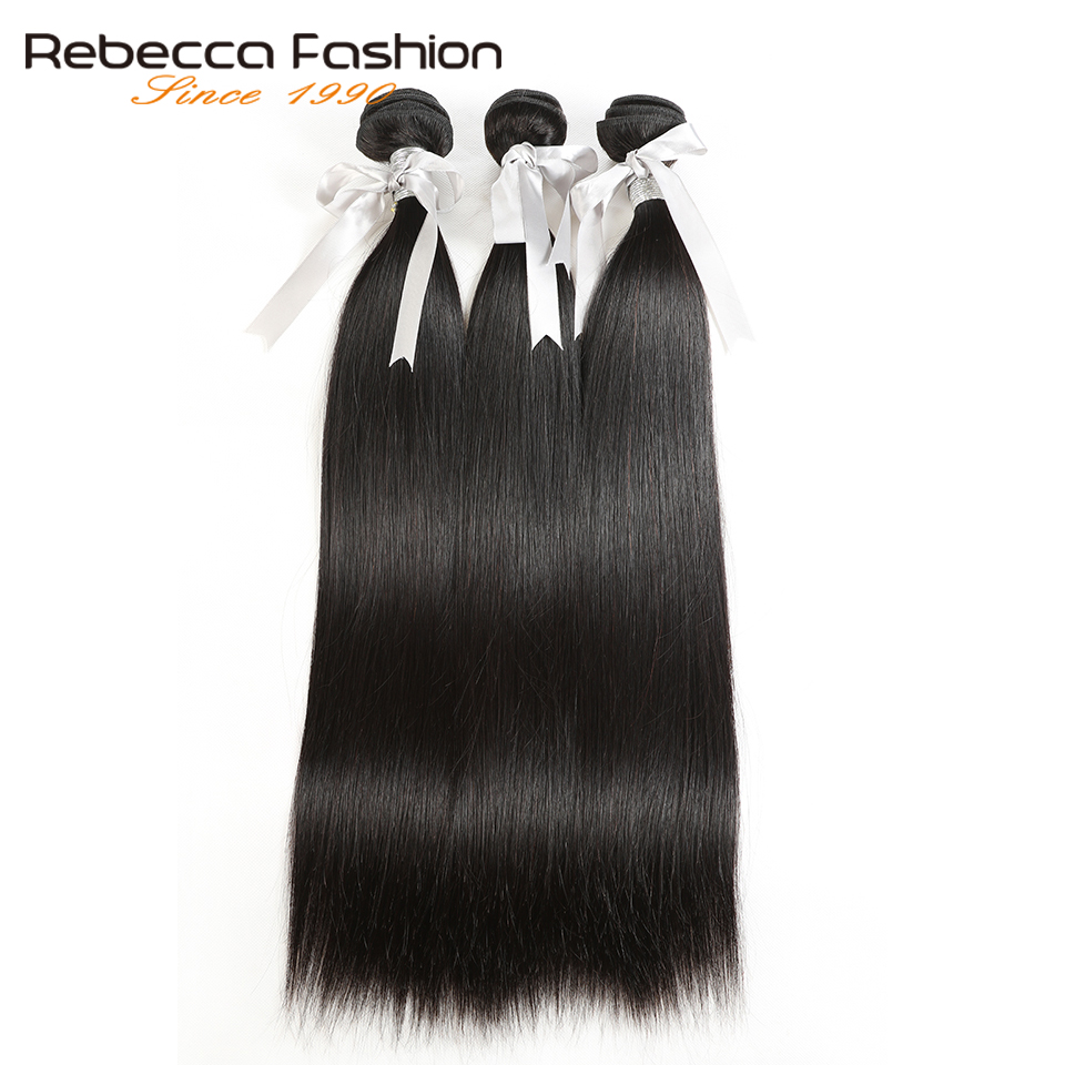 Rebecca malasia pelo liso 3 paquetes con frontales no Remy pelo - Equipos para peluquerías - foto 6
