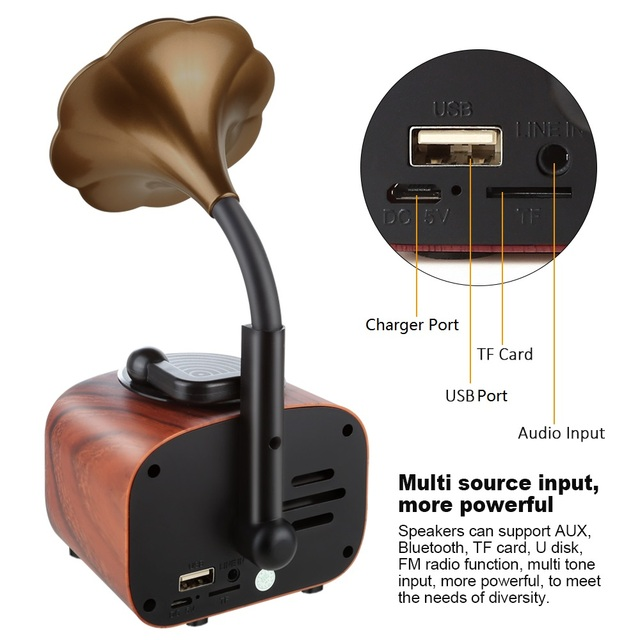 Trumpet Style Bluetooth Speaker 5