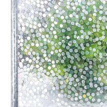 3D PVC Window Film Static Cling Stone Decorative Privacy Static Self Adhesive Window Sticker No Glue Stained Glass For Bedroom privacy window foil film 3d cherry stained static cling glass sticker self adhesive pvc glass film furniture decorative 90x200cm
