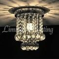 Современные европейские Светодиодные лампы E14  150 мм ~ 350 мм  K9  хрустальный шар  домашняя люстра  роскошный светильник 110 В-240 В  Подвесная ламп...
