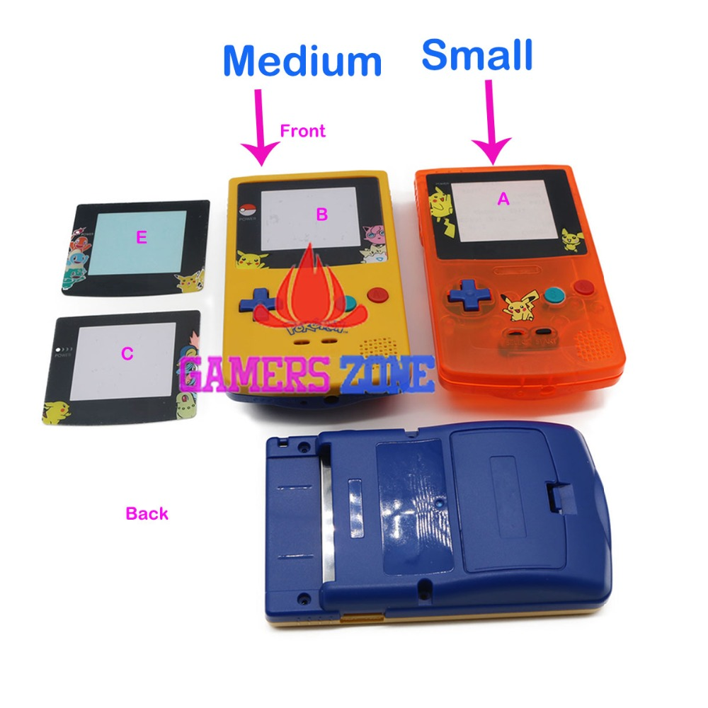 Gameboy color and pokemon yellow - For Game Boy Color Pokemon Limitd Edition Clear Orange Yellow Replacement Housing Shell For Gbc Housing Case Pack Free Shipping Worldwide