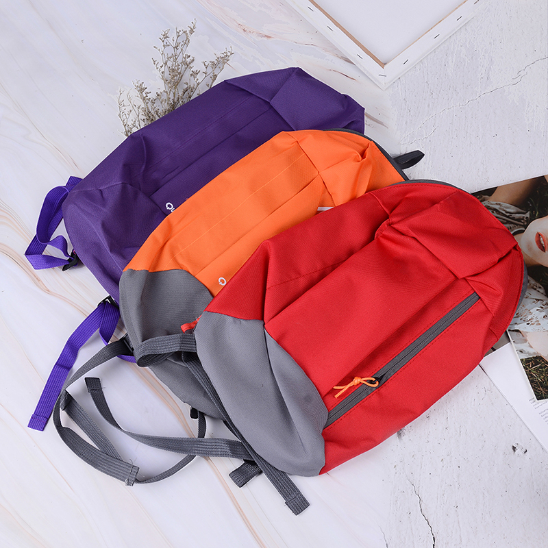 1Pc Unisex Sports Backpack Satchel Bag Withe Soft Handle Lightweight Nylon Backpacks For Travel Hiking Rucksack