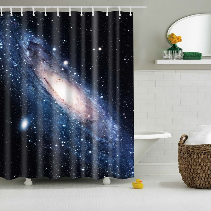 Cool Shining Stars Space Universe Customize Design Bath Waterproof ...