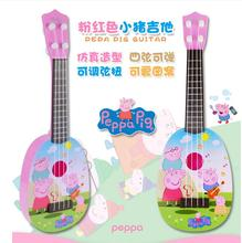 Pink Pig toy ukulele luxury suite playground Juguetes pig toy action figures Cerdo Family Child Boys Girls Children's Gifts