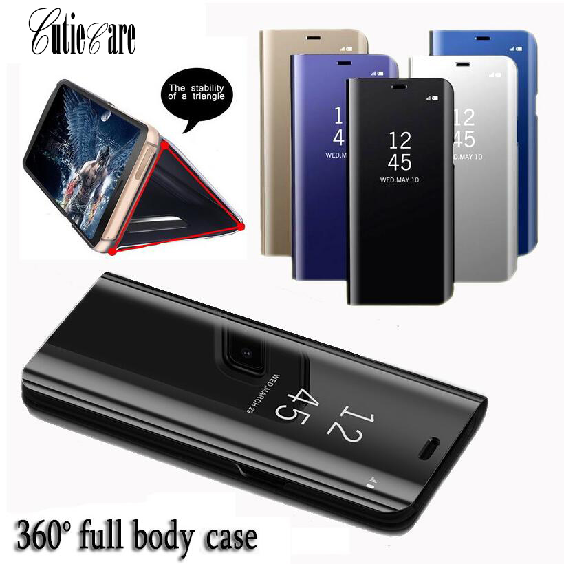 Clear Mirror Smart Case For Samsung Galaxy Note