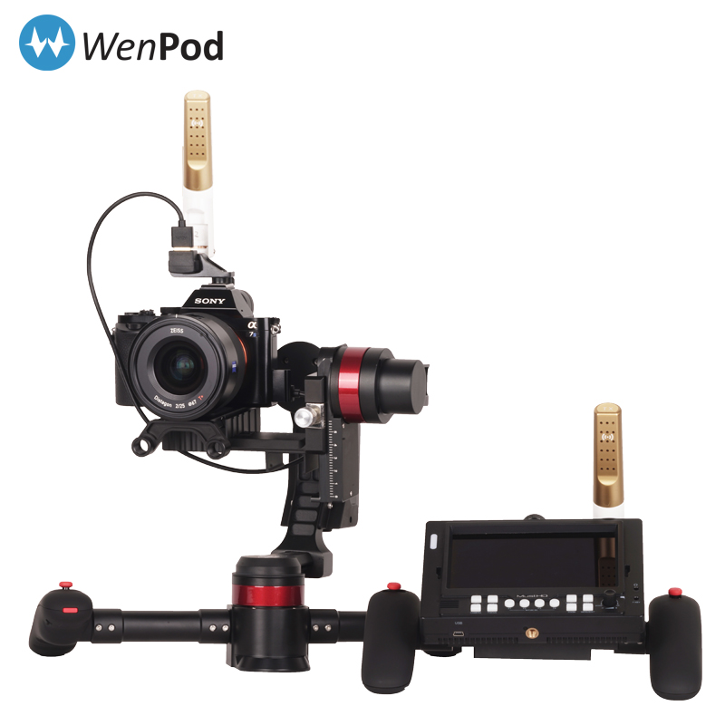WenPod MD2 64Bit 3-Axis Gimbal + Motion Control Handheld Camera Stabilizer Auto Calibration For DSLR Canon SONY Panasonic 3KG [hk stock][official international version] xiaoyi yi 3 axis handheld gimbal stabilizer yi 4k action camera kit ambarella a9se75 sony imx377 12mp 155‎ degree 1400mah eis ldc sport camera black