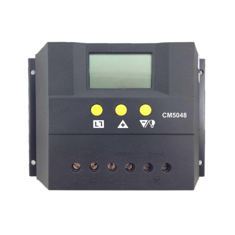 PWM 30A 50A 60A Солнечный Контроллер заряда 12 в 24 в авто ЖК-панель PV батарея Контроллер заряда солнечной системы для батареи AGM