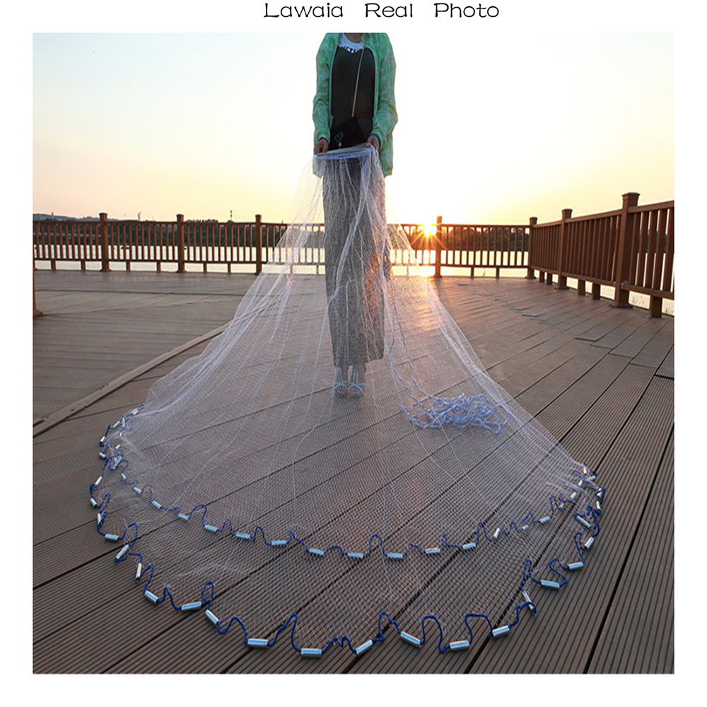 Lawaia 2.4m-7.2m Fishing-net 3m Fishing Net American Sign Cast Hand Net Network Net Folding Network