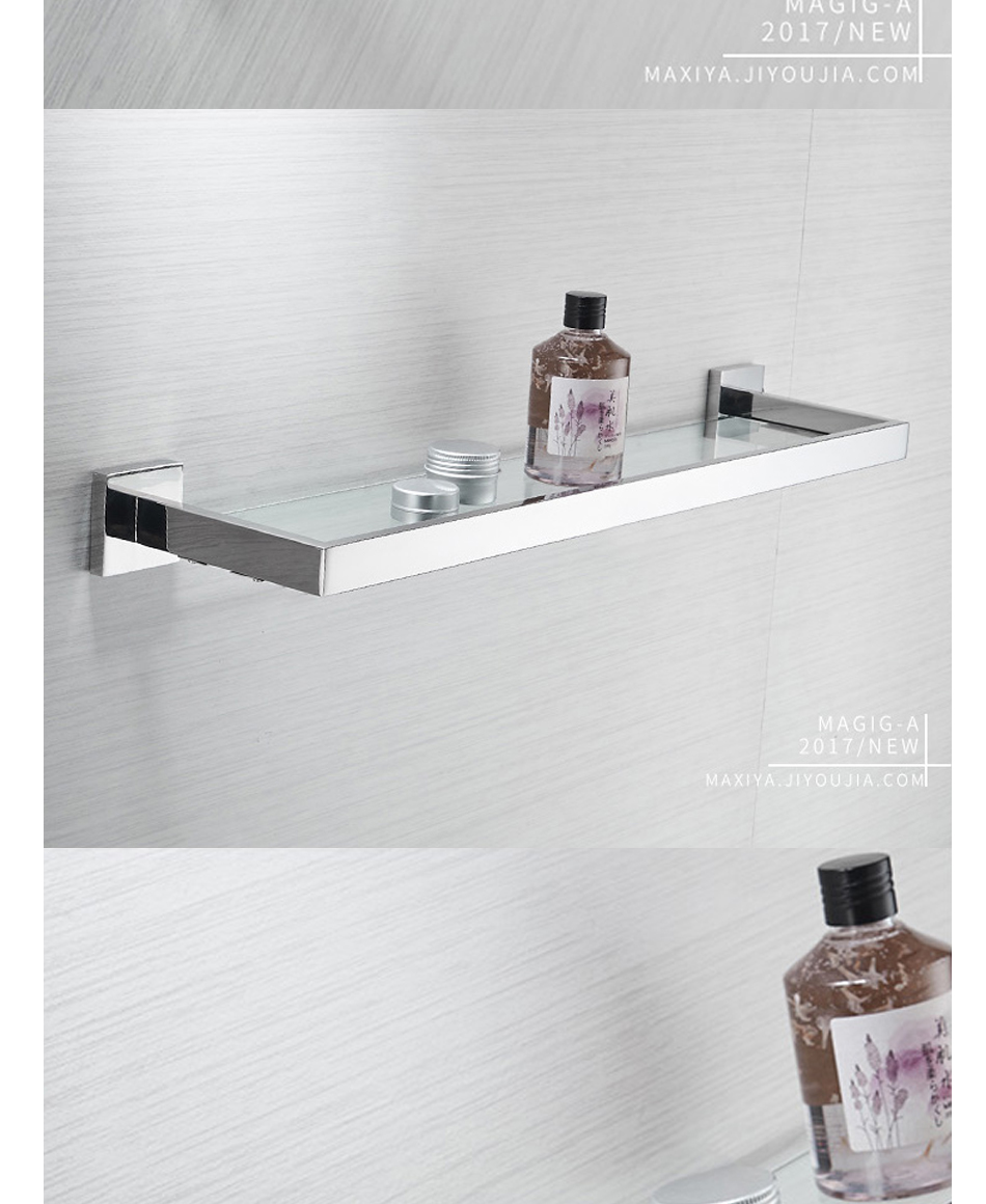 Glass Shelves Bathroom Us 59 16 49 Off Auswind 304 Stainless Steel Bathroom Glass Shelving Wall Hanging Single Rack Square Base Bathroom Cosmetics Shelf In Bathroom
